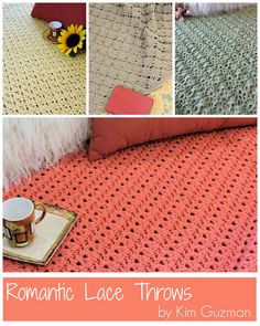 Romantic Lace Throws: 4 Free Crochet Patterns