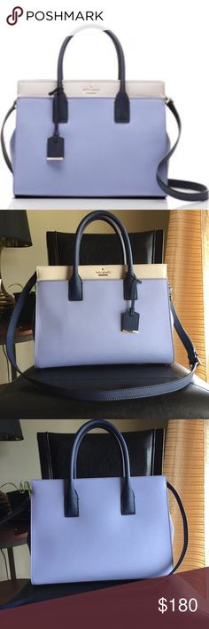 Kate Spade Cameron Street Candace Handbag Large blue purple beige very good condition no scuffs Kate Spade Bags Totes