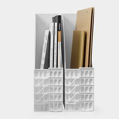 Archi Desk Accessories File Holder | MoMAstore.org | So cute, and would be great next to each other on a bookshelf or desk.