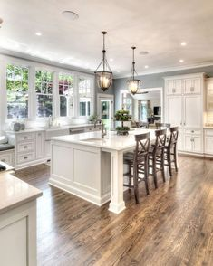 To improve the interior of your home, you may want to consider doing a kitchen remodeling project. This is the room in your home where the family tends to spend the most time together. If you have not upgraded your kitchen since you purchased the home,. Farmhouse Style Kitchen, Kitchen Redo, Home Decor Kitchen, Home Kitchens, Kitchen Remodel, Small Kitchens, Kitchen Islands, Kitchen Ideas, Kitchen Soffit