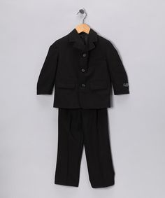 Take a look at this Black Suit Jacket & Pants - Toddler & Boys by Lida & Sweet Pattis on #zulily today! #fall