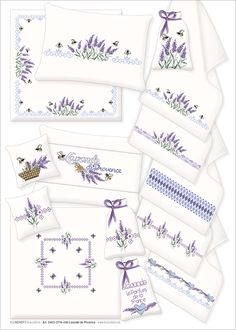 Lavender Decor, Bb8, Provence, Cross Stitch Patterns, Needlework, Projects To Try, Fancy, Embroidery, Cross Stitch Embroidery