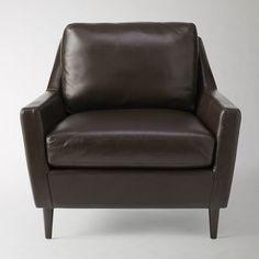 Club Leather Chair, Coffee