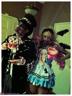 Zombie Mad Hatter and Alice - Halloween Costume Contest via @costumeworks
