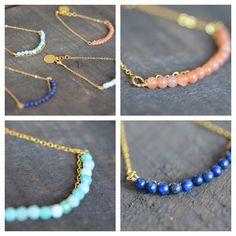 Naiona Jewelry goldfilled bracelets with gemstones amazonit moonstone lapis lazuli chalcedon www.naiona.de