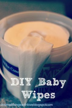 """DIY Baby Wipes - seems to be one of the better """"recipes"""" I've found. I've tried some in the past and they have been too wet!"""