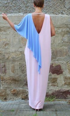 Pink backless dress Maxi Dress Caftan Party por cherryblossomsdress