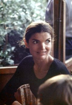 Jackie Onassis during Jackie Kennedy and Family Shopping in Capri - August 24, 1970 in Capri, Italy. (Photo by Ron Galella/WireImage) via @AOL_Lifestyle Read more: http://www.aol.com/article/2016/03/15/jackie-kennedys-lookalike-granddaughter-rose-schlossberg-laun/21328144/?a_dgi=aolshare_pinterest#slide=3279816|fullscreen