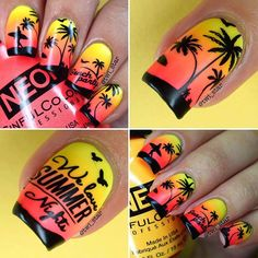 Some of these items were provided for review #PressSample #PRSample ------------------------------------------------ Collage of my sunset gradient 🌅 mani using stamp plate BP-L017 from @bornprettystore 😍🌴☀️🌊 and here's my thumb lol I painted on the little birds on the thumb and I'm kinda proud of them because my freehand skills are like negative 22 😂 and they're just dots and dashes, maybe there's a secret morse code message hidden in this mani!.... Or maybe not 😜 It's the little…