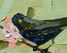 Fairy Wren no. 38 oorspronkelijke vogel olie en Pastel