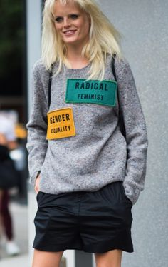 This Acne sweater is SO cool.