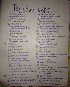 fun date night ideas!