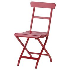 IKEA - MÄLARÖ, Folding chair, red, , Perfect for your balcony or other small spaces as the chair is easy to fold up. Garden Table And Chairs, Patio Chairs, Outdoor Chairs, Dining Chairs, Outdoor Decor, Ikea Outdoor, Dining Sets, Outdoor Dining Furniture, Garden Furniture