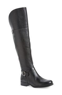 Naturalizer July Double Buckle Strap Over The Knee Boot leather black 19.5sh .75h sz7.5 199.90 1/16