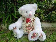 My name is คุณชายน้อย . I'm Thailand's teddy bear.  (Made by Kru Kong.)