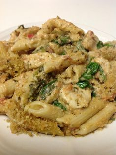 Pesto-Chicken Penne Casseroles via #TasteofHome