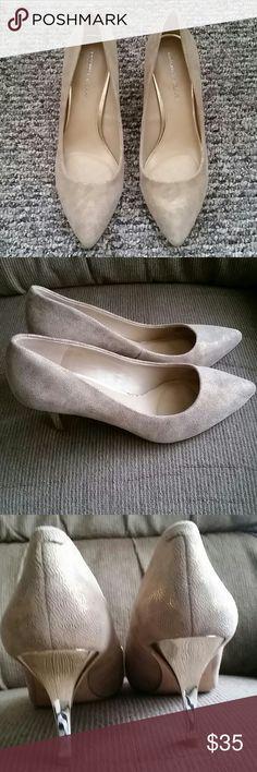 Antonio Melani Zoey276 Sand/Sandgold Size 10 Worn once. Perfect condition. Heel Height: 3inches. Smoke/pet free home. ANTONIO MELANI Shoes Heels