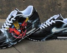 new concept e7593 6b0f5 Original Nike Air Max 90 painted as Seen in the pics. Painted with acrylic  Leather colours that will Last forerver on the shoes. All sizes availlable.