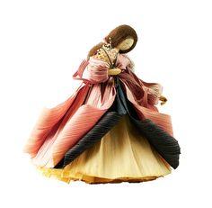Vintage Nan's Corn Husk Doll Springtime Pink and by PlumsandHoney
