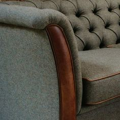 Harris Tweed & Leather Sofa | Chesterfield Sofa | Curiosity Interiors