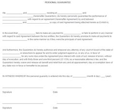 Loan Forms Template Personal Guarantee Form Template 444  Legal Forms  Pinterest .