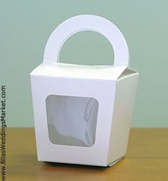 Cardstock Box with Window / Pack of 10 at http://www.BlissWeddingsMarket.com!