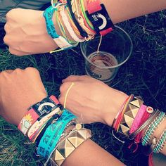 We Came, We Rood, We Conquered — See Our Bonnaroo Instagram Diary!: Check out our arm parties! We stayed loaded with wrist candy from Gap, Blee Inara, and Pura Vida — not to mention the obligatory Bonnaroo wristbands. Source: Instagram user popsugarfashion