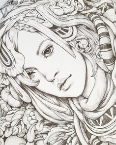 I should have posted this earlier but I'd like to say THANK YOU to everybody who has supported me by buying Serene. I hope that you guys… Blank Coloring Pages, Free Adult Coloring Pages, Disney Coloring Pages, Coloring Books, Art Watercolor, Muse Art, Creative Art, Art Paintings, Illustration Art