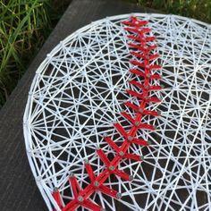 ZUR Bestellung String Art Baseball Zeichen von TheHonakerHomeMaker