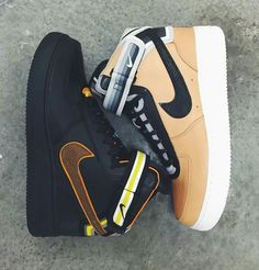 detailed look 76787 5b6d9 Greg RS Nike Air Force black gold follow Greg RS shoes pin Jordans  Sneakers, Shoes