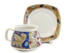 Byzantium Cup & Saucer Set. $20.00.  #ceramics  #ceramic #handmade #handcrafted #crafts #pottery #ceramicpottery #handmadepottery #CatalogOfGoodDeeds #sugarbowl #teacups #teapot #giftideas