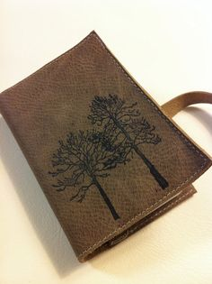 "Small Leather Journal - ""Forest"", $50.00"