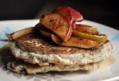 flax pancakes with apples