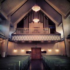 The organ in Kirkenes church.