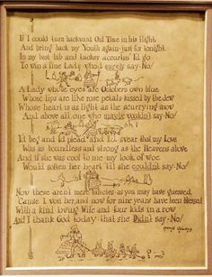 Grandpa's poem to my grandmother.