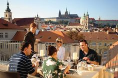 From its unique location in a private tower at the top of our Baroque wing, guests can indulge in Alfresco dining on the Presidential Terrace and enjoy breathtaking views of Prague Castle.     Pin provided by Mandarin Oriental, Prague: http://www.mandarinoriental.com/prague/