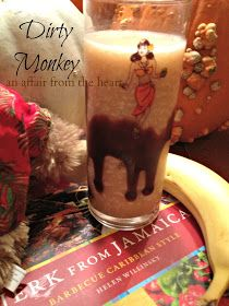 MONO SUCIO (Dirty Monkey) taken from the recipes of Secrets Resorts 1 ounce of rum 1/2 ounce of Kahlua 1 ounce of coconut cream 2 ounces of pineapple juice 1/4 ripe banana