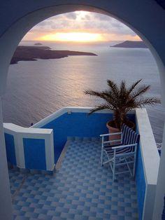 Beautiful sunset, Santorini Greece