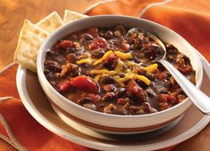 Chili with Black Chili Beans   S&W Beans Recipe