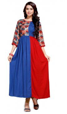 Red Color Readymade Cotton Kurti in A-line Style   FH609988784 Latest Fashion Readymade Kurtis Collection With Different Style Online Up to 20% OFF Discount Follow @Heenastyle Shop now at https://www.heenastyle.com/kurtis #kurtis #latest #fashion #heenastyle