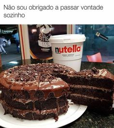 Nutella, Bolo Tumblr, Chocolates, Life Tumblr, Confectionery, Deserts, Food Porn, Food And Drink, Funny Memes