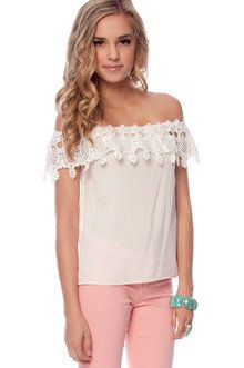 off-shoulder top by kingsley