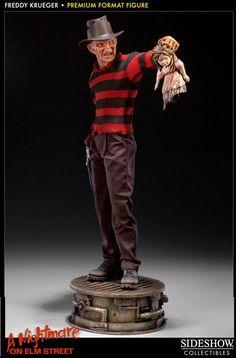 Estatua Pesadilla en Elm Street. Freddy Krueger, Premium Format, 53cm. Sideshow Collectibles