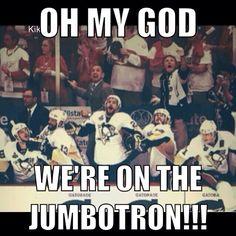 We're on the Jumbotron!