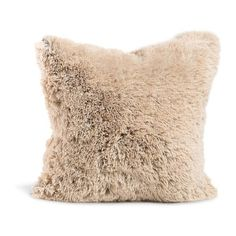 Designer Collections by Sheri Shag/ Faux Fur Pillow or Throw (305 BRL) ❤ liked on Polyvore featuring home, bed & bath, bedding, blankets, fake fur throw, brown faux fur throw blanket, brown faux fur blanket, brown throw blanket and taupe bedding