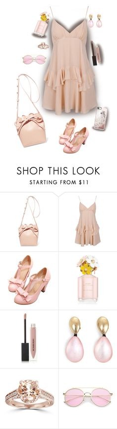 """""""spring set with a bucket bag"""" by sarahguo ❤ liked on Polyvore featuring Mansur Gavriel, Marc Jacobs, Burberry, Monies, Bliss Diamond and Casetify"""