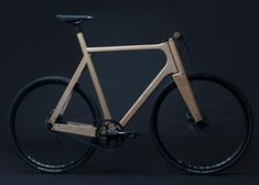 """Bicycle created from solid ash for """"exceptional comfort"""": http://www.dezeen.com/2015/02/19/wooden-bicycle-3d-printed-aluminium-parts-ash-paul-timmer/… #design #cycling #bikes"""