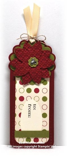 idea tag decorado Wednesday, November 17, 2010  Christmas Tags - Two Tags Bigz    http://www.cardcreationsbybeth.com/2010/11/christmas-tags.html  Stampin' Up!