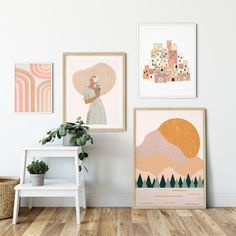 decorate shop Boho Wall Decor Gallery Wall Set Of 5 Prints Boho Room Decor Burnt Orange Wall Art Boho Living Room Boho Rainbow Print Boho Bedroom Decor Make a blank space pop. Boho Bedroom Decor, Boho Room, Boho Living Room, Room Wall Decor, Modern Bedroom, Easy Wall Decor, Cheap Wall Decor, Living Room Prints, Bohemian Wall Art