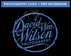 Vintage photography logo with a FREE watermark by SigntificDesigns